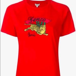Kenzo Jumping Straight Tiger Graphic T-Shirt